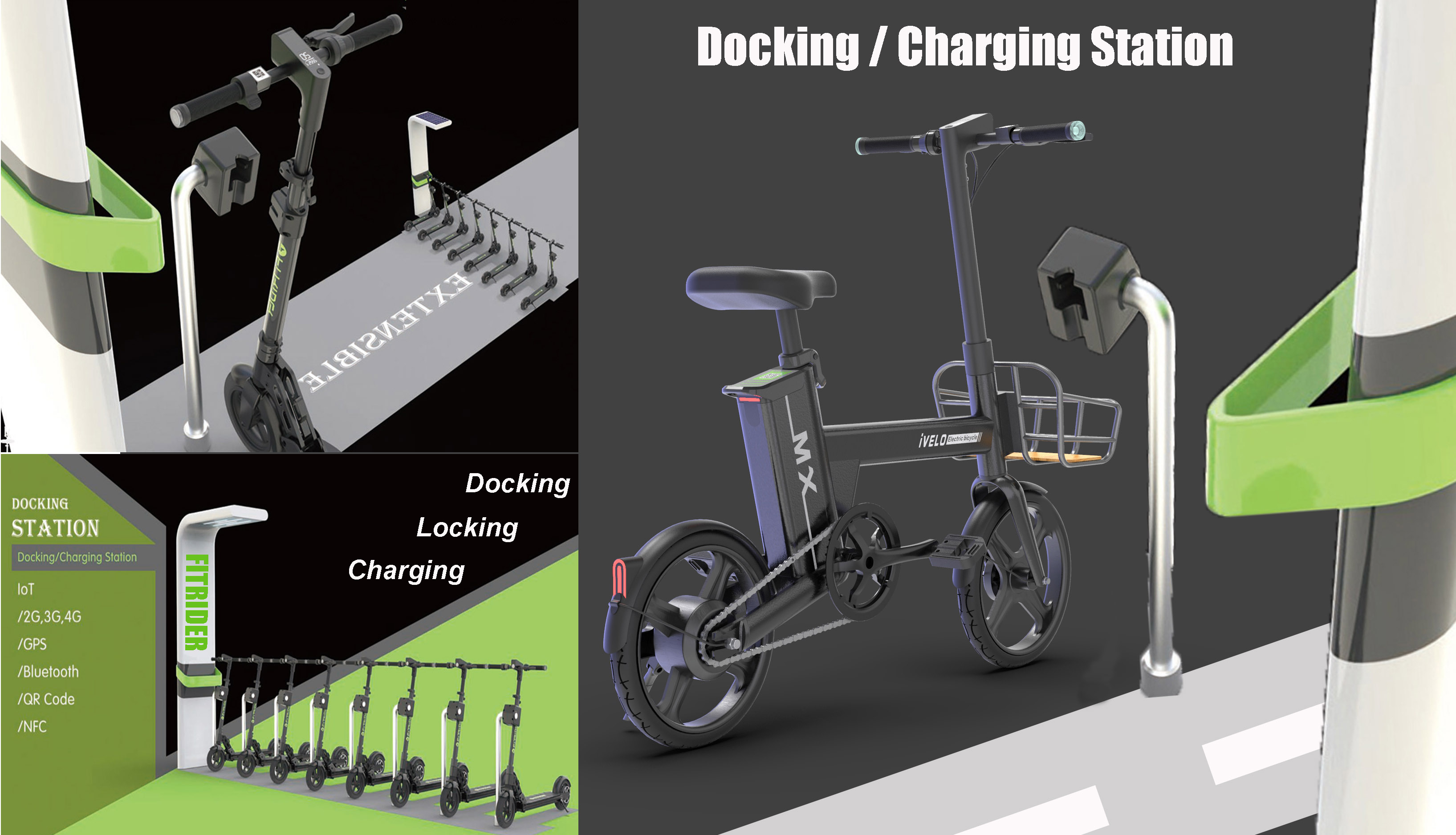 ivelo rideshare docking station parking station