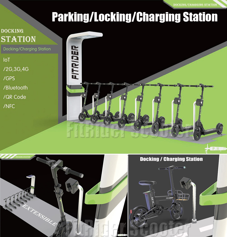 fitrider rideshare docking station parking station