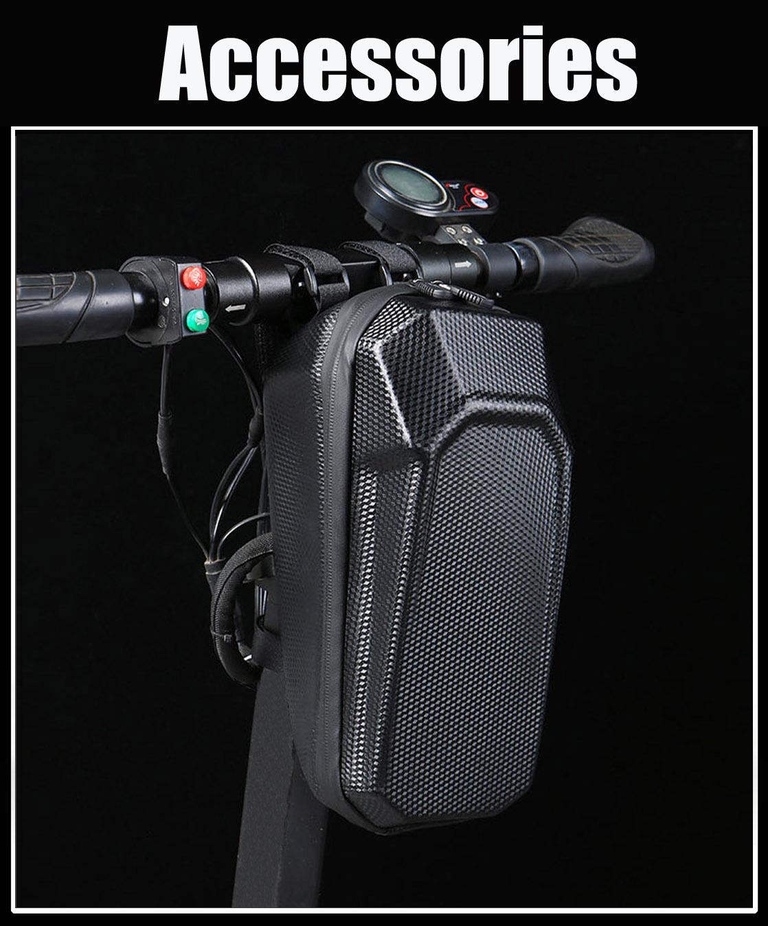 electric scooter bike handle bar front bag